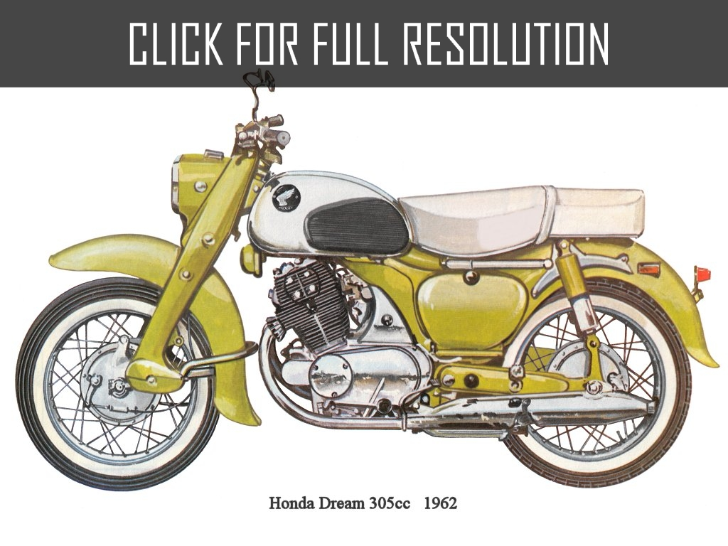 hight resolution of honda dream 305