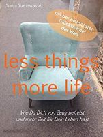 Buchcover less things, more life