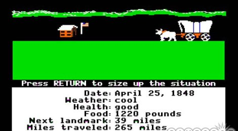 Old Game Tuesday - The Oregon Trail