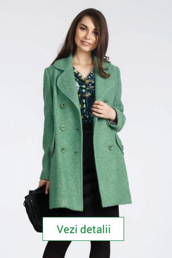 Palton de dama verde
