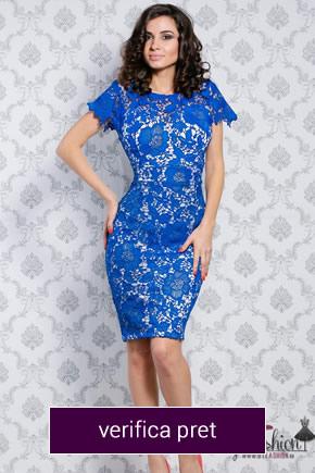 rochie albastra din dantela