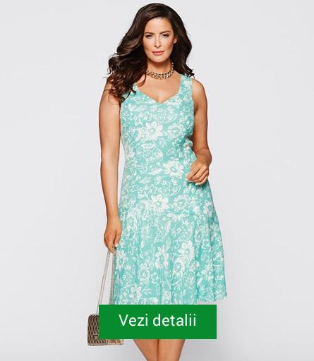 Rochie cu motive florale pentru femei grasute
