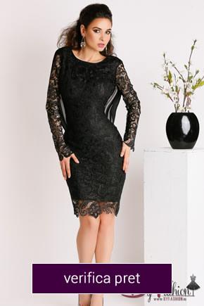 rochie din dantela neagra