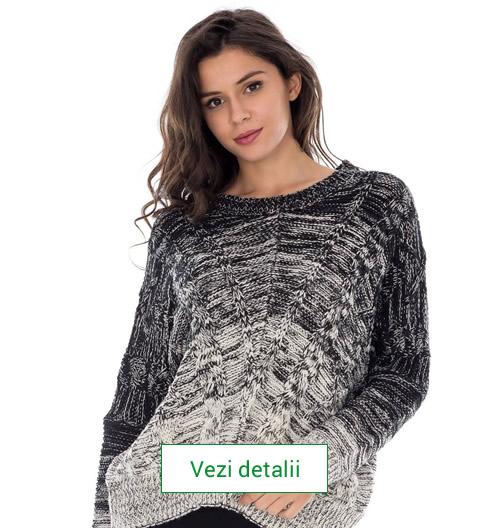 Model de pulover tricotat de dama