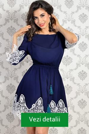 Rochie scurta eleganta, de culoare bleumarin