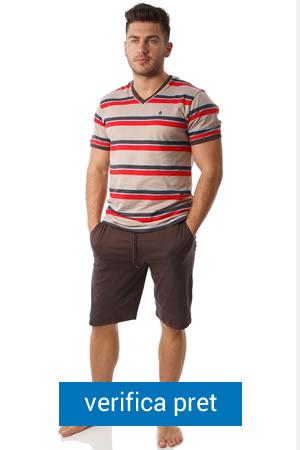 Pijamale barbati SofiaMan cu tricou si pantaloni scurti
