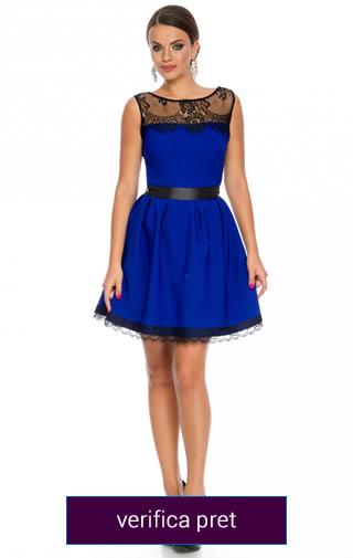 Rochie albastra scurta