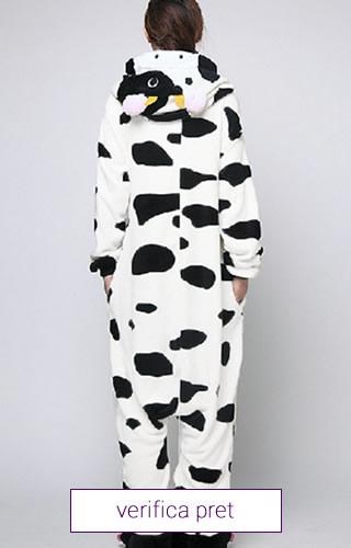 Pijama intreaga tip salopeta, model vacuta