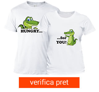 Set tricou cuplu - hungry for love