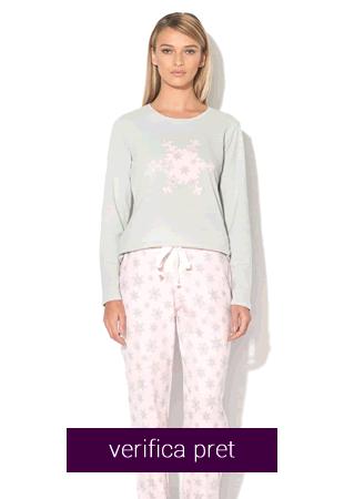 Pijama dama cu fulg de nea