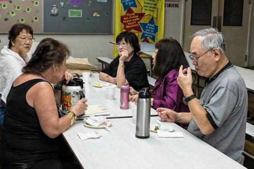 Members enjoyed the refreshments in between bids.