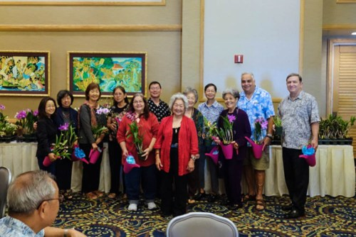 2014 Officers and Trustees were recognized and presented with small tokens of appreciation by President Ruth Chun.