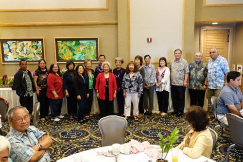 2015 Officers and Trustees of the Honolulu Orchid Society.