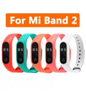 Colorful Silicone Wrist Strap For Xiaomi Mi Band 2 A Nice