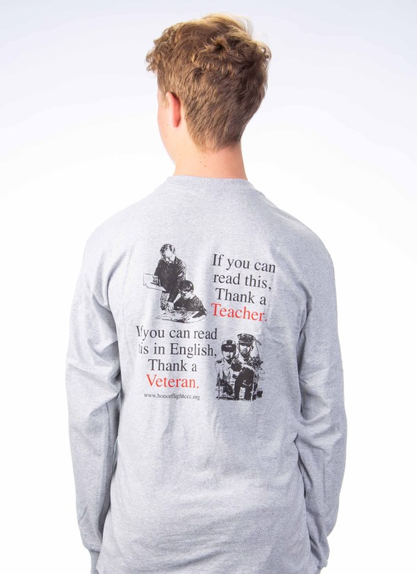 Men's Long sleeve - Gray Back