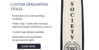 Graduation Stoles & Sashes | Custom Graduation Stoles
