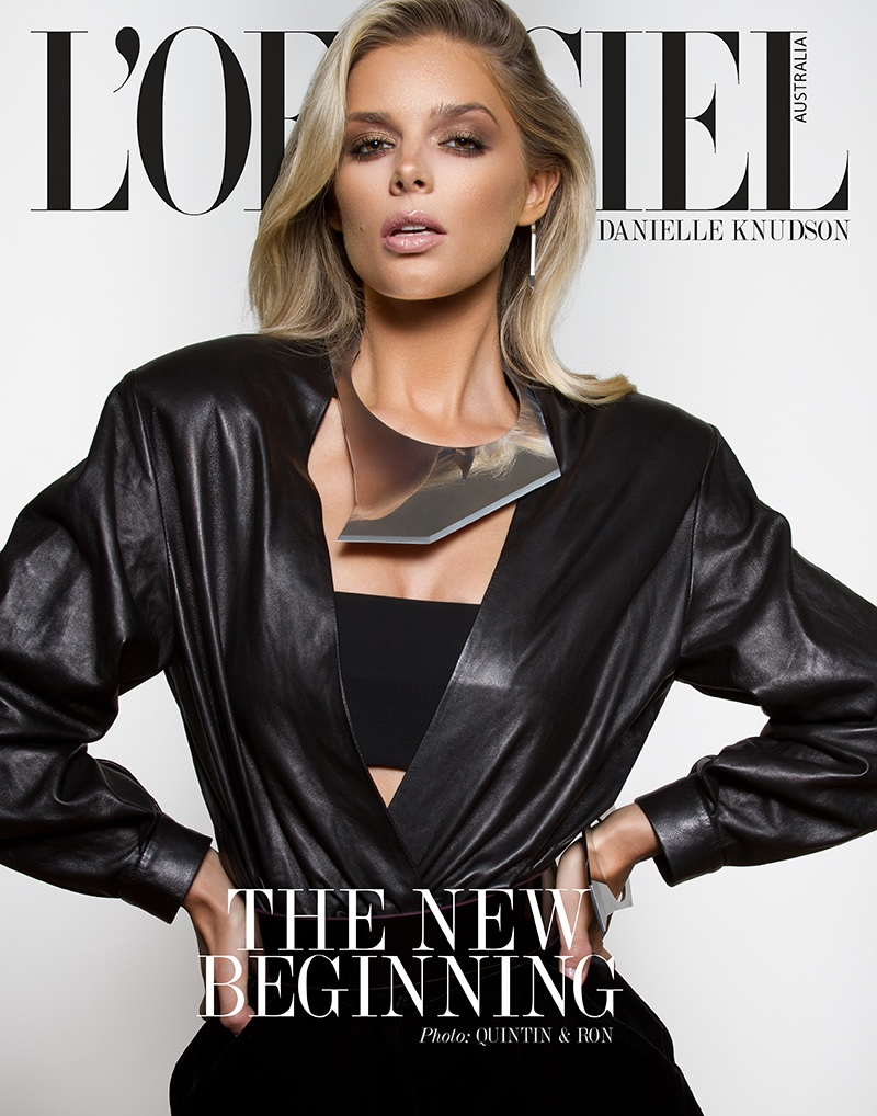 Danielle Knudson lands three covers for the January 2019 issue of L'Officiel Australia. Photographed by Quintin Perez and Ron Erick Odchigue.