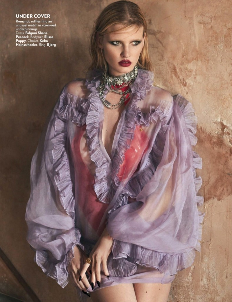 Lara Stone for Vogue India September 2019. Photographed by Greg Swales.