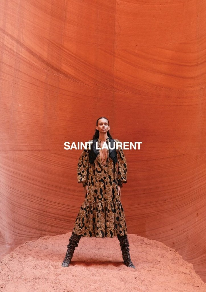 Zoe Kravitz joins models Binx Walton, Elise van Iterson and Aylah Peterson for Saint Laurent's Summer 2020 campaign. Photographed by Juergen Teller.