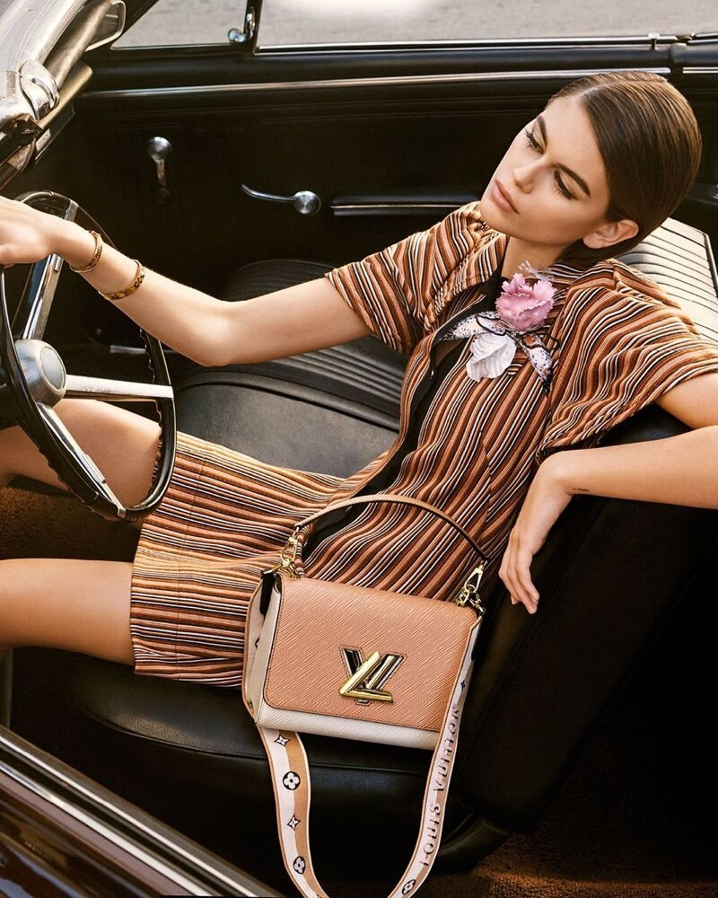 Kaia Gerber for Louis Vuitton Spring 2020 'Twist' Campaign. Photographed by Craig McDean.
