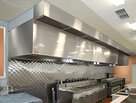 commercial kitchen hood ventilation