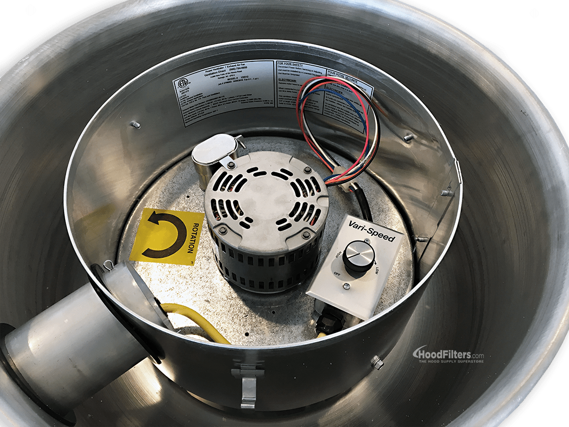 hight resolution of 900 1500 cfm direct drive upblast food truck exhaust fan with 13 75 wheel