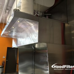 Commercial Kitchen Hood Installation Mid Level Cabinets 4 39 Type 1 And Fan System