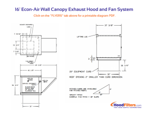 16' Type 1 Commercial Kitchen Hood and Fan System