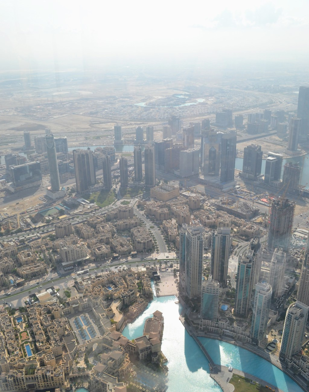 The faraway view from the At the Top viewing deck on the Burj Khalifa