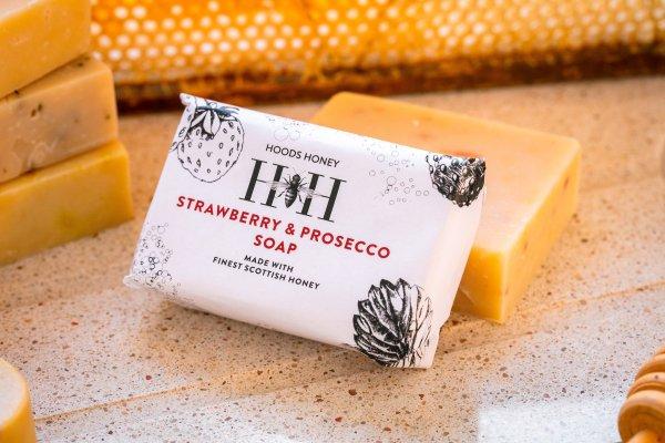 Strawberry and Prosecco Soap