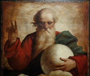 Apparently God is just some old dude with big, white balls.