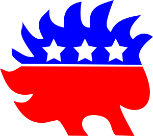 Just like most Libertarians, the porcupine they chose as their logo is prickly and generally prefers to stay alone.