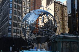The giant globe outside the CNN offices, where dreams are made, dumb things are said and election coverage is annoying.