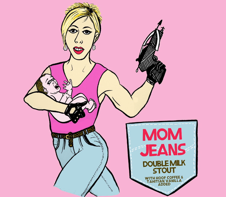 mom jeans double milk