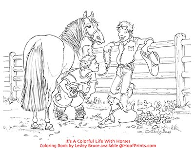 Its A Colorful Life With Horses Coloring Book-www