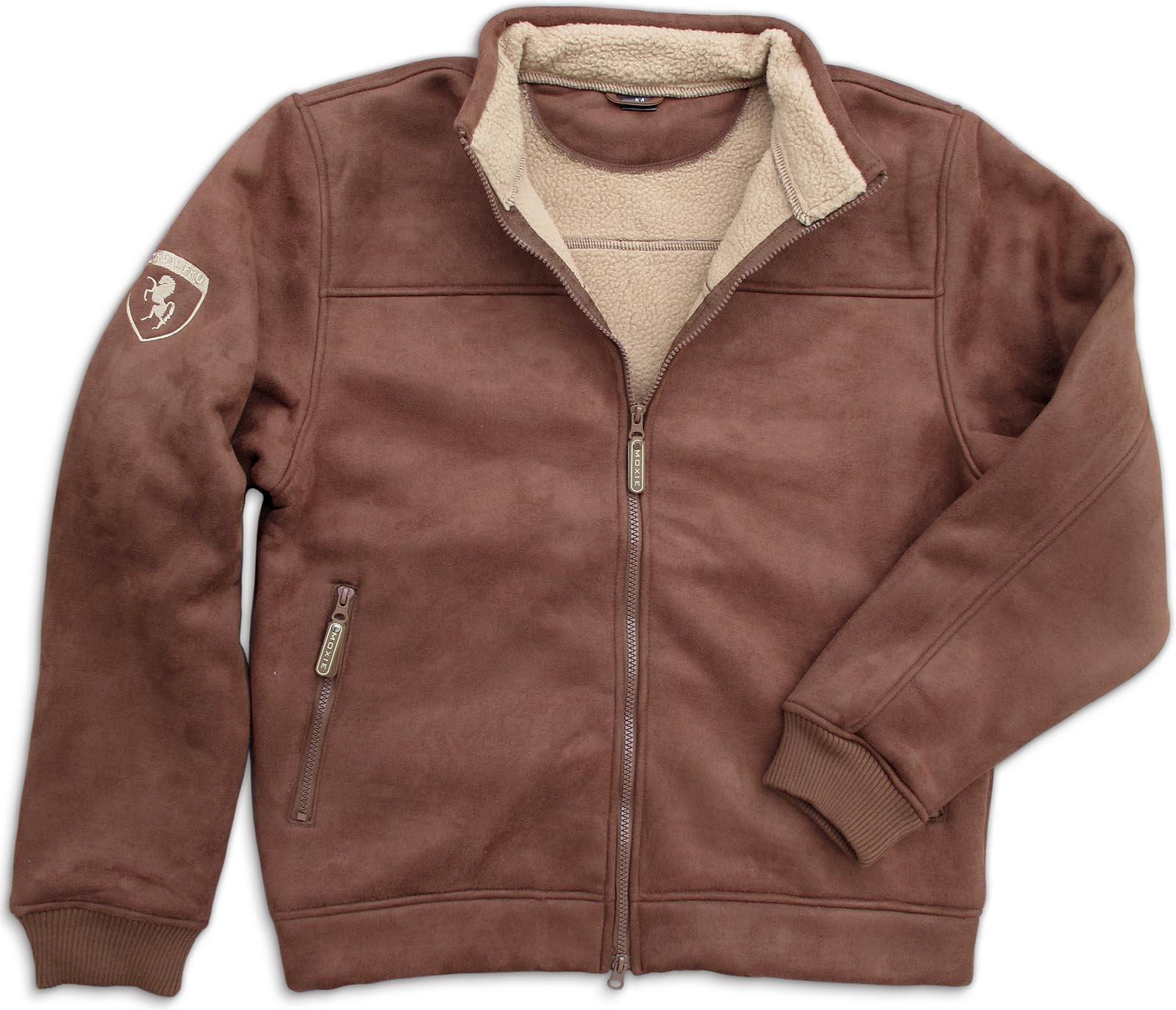 ** SOLD OUT ** Fleece Lined Suede Bomber Jacket-www.hoofprints.com