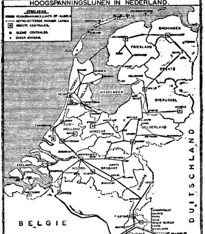 Netkaart van 1947