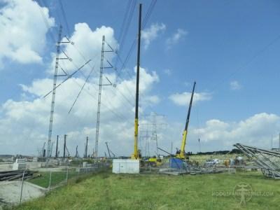 Noodmasten voor tijdelijke omleiding van 380 kV (foto door ET