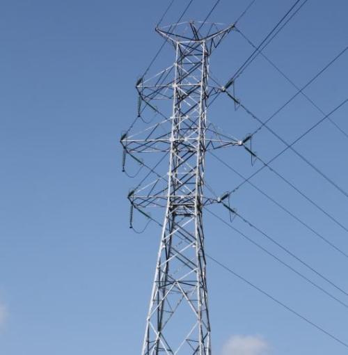 Mast 04 van de 150 kV-lijn Waggelwater-Blauwe Toren, door Bavo Lens