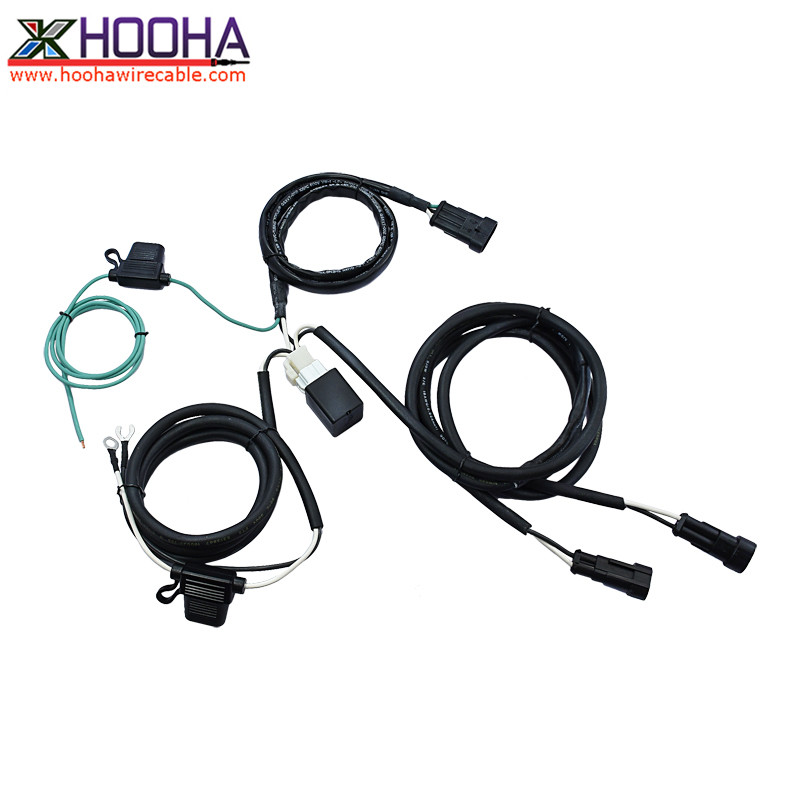 customized motorcycle headlight wire harness
