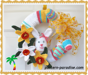 Crochet Spring Wreath-Spring Wreath 14-136