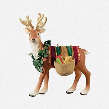 2013 Father Christmas Reindeer Hallmark Ornament