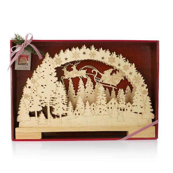 2014 Laser Cut Wood Santa Scene Hallmark Christmas Decoration Hallmark Keepsake Ornaments At