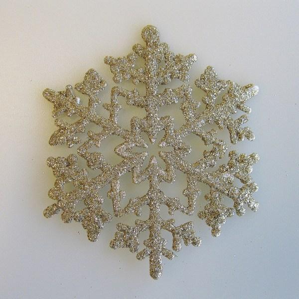 Gold Snowflake Ornaments Hooked Hallmark