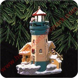 1999 Lighthouse Greetings 3 Hallmark Ornament