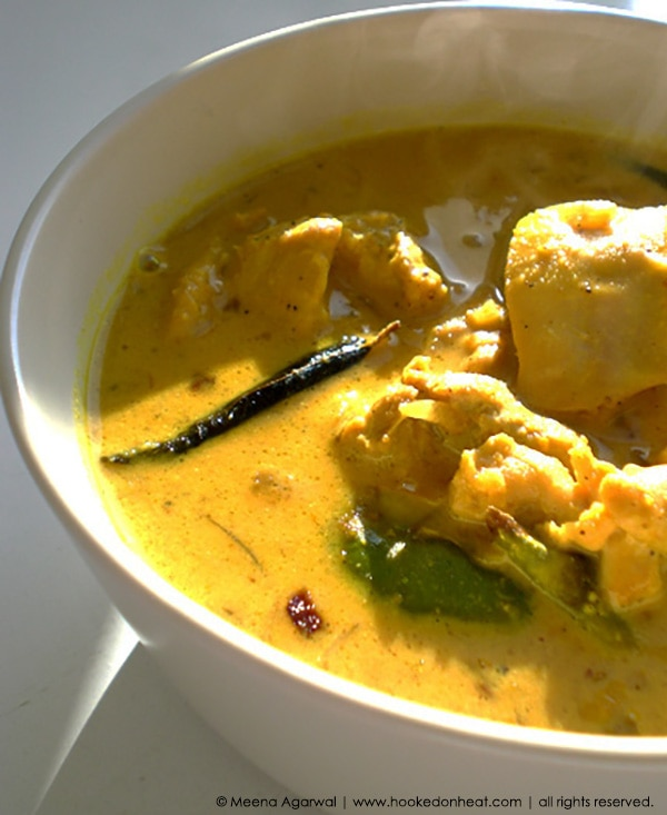 Recipe for Coconut Chicken Curry taken from www.hookedonheat.com. Visit site for detailed recipe.