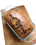 Recipe for Choco-Chip Banana Bread taken from www.hookedonheat.com. Visit site for detailed recipe.