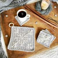 Winter Wonderland Coaster + Trivet Duo