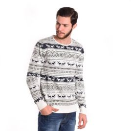 Pull-Col-Rond-Blanc