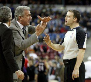 Basketball Coach Calling Timeout